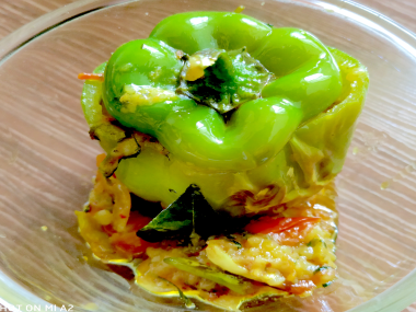 Stuffed Capsicum - Bharwa Shimla Mirch-by-Rasoirecipes
