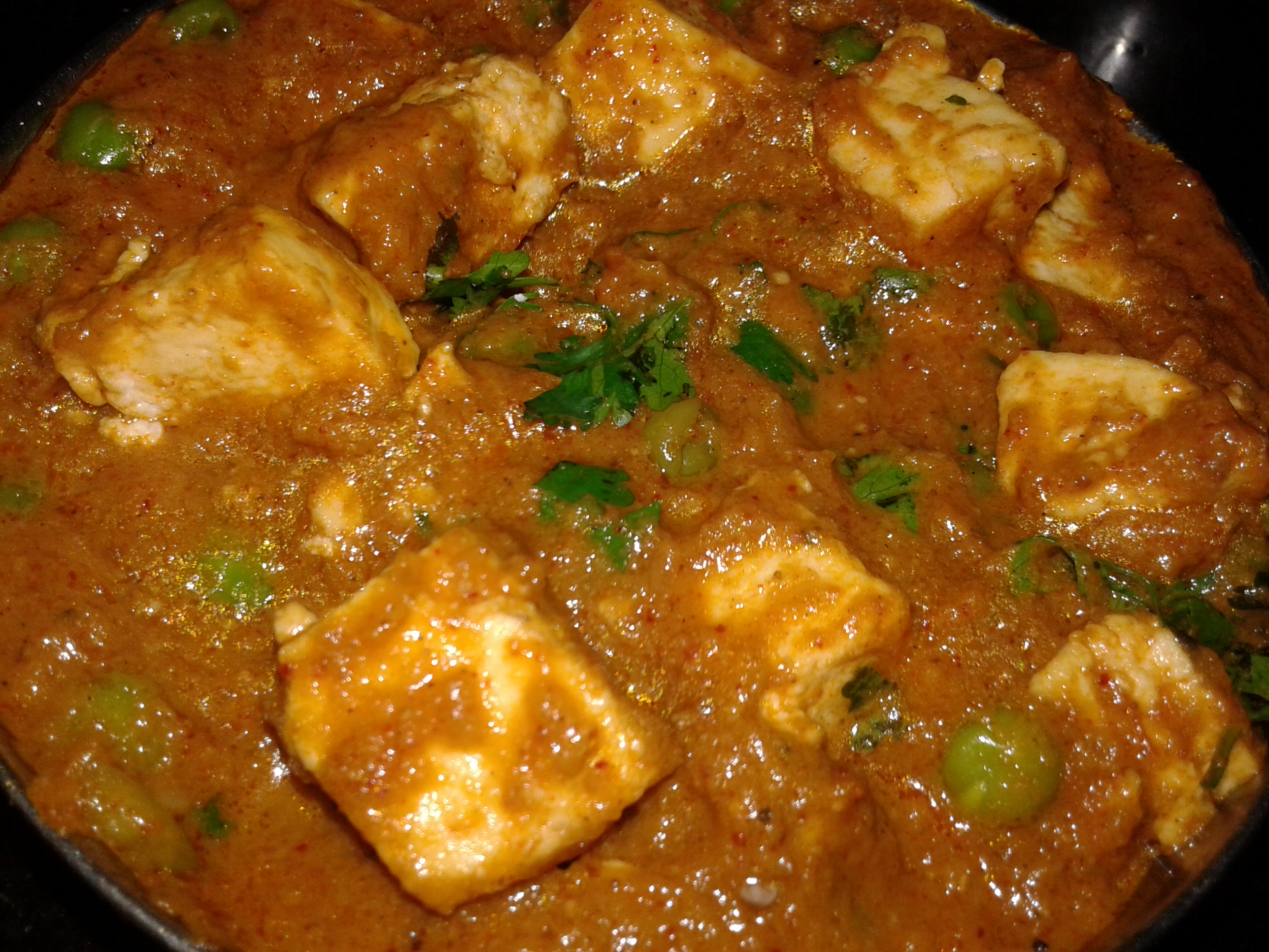 Home made Mutter Paneer-by-Rasoirecipes